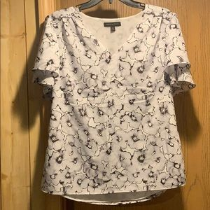 Banana Republic abstract floral design shirt